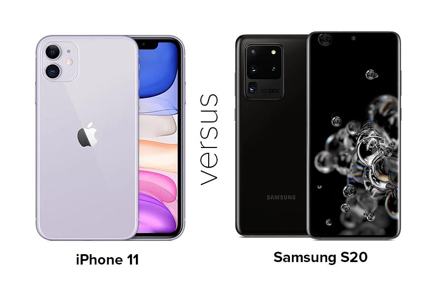 iPhone 11 and Samsung S20 Compared